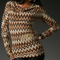 Apple Bottoms By Nelly Deep V-Back Tunic Missoni