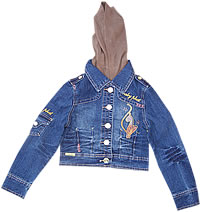 Baby Phat Girlz 4-6X Multi Embroidered Jacket w/ Hood